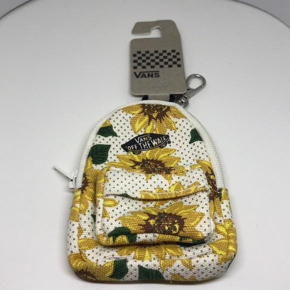 66bb932fc0b6 New Vans Sunflower Mini Backpack Keychain